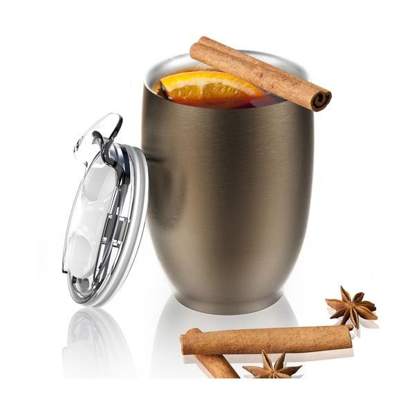 Brązowy nierdzewny kubek termiczny Asobu Imperial Beverage, 300 ml