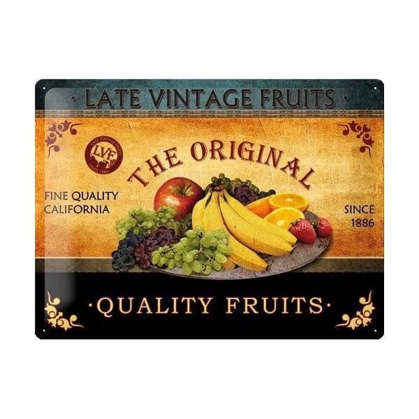 Plechová cedule Fruit, 30x40 cm