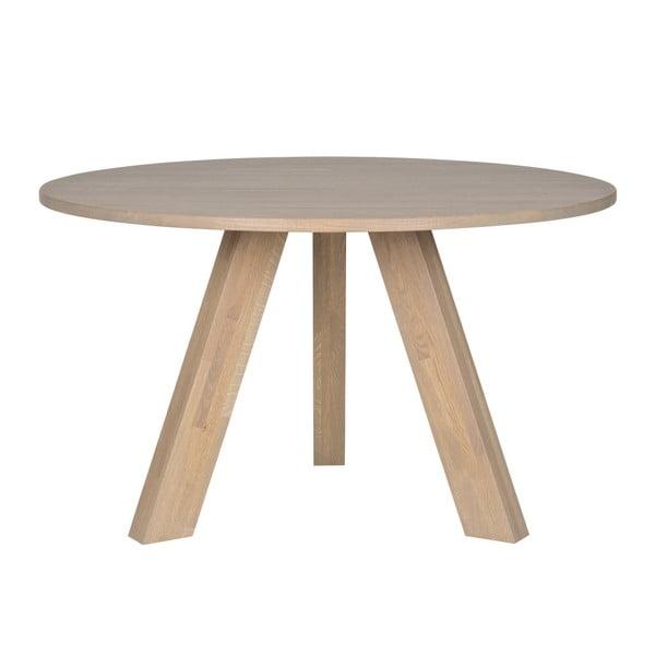 Jídelní stůl z běleného dubového dřeva WOOOD Rhonda, Ø129cm