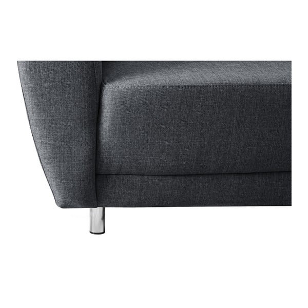 Canapea cu șezlong pe partea dreaptă Florenzzi Viotti, gri antracit