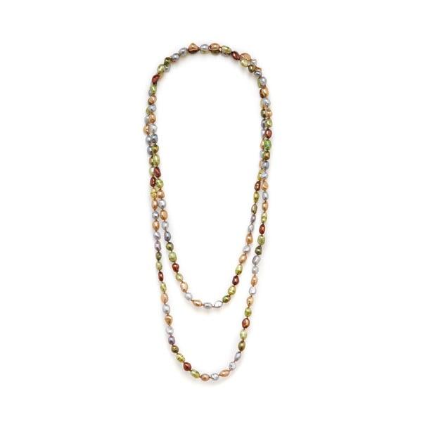 Náhrdelník z říčních perel Baroque 120 cm, barevný