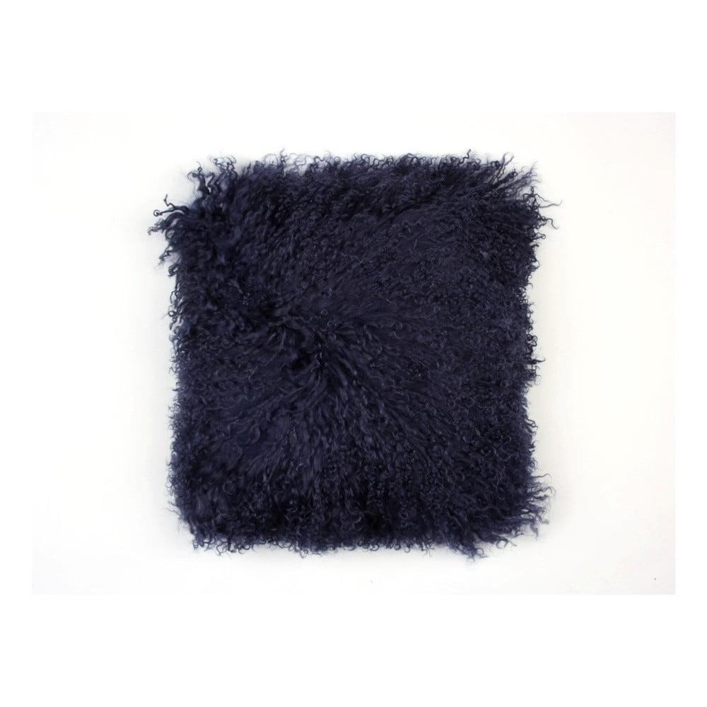 Černý vlněný polštář z ovčí kožešiny Auskin Camdyn, 35 x 35 cm
