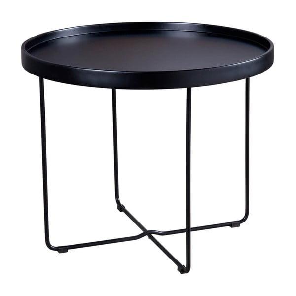 Černý odkládací stolek sømcasa Dave