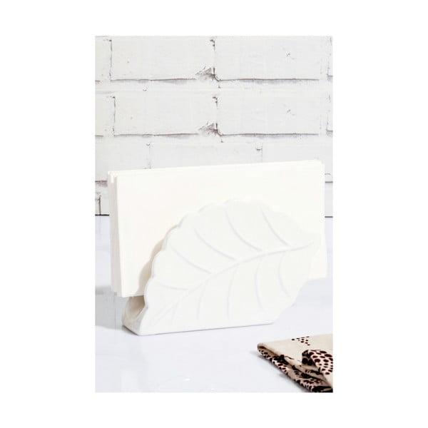Porcelánový a bambusový držák na ubrousky Kosova Rachel, 4x14x9cm