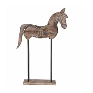 Dekorace ve tvaru koně z mangového dřeva Mica Sculpture, 36x60cm