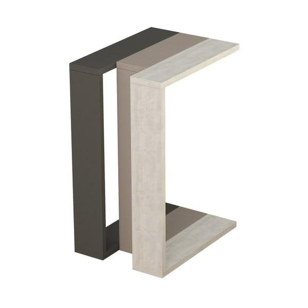 Šedo-hnědý příruční stolek Muju Anthracite Light Mocha