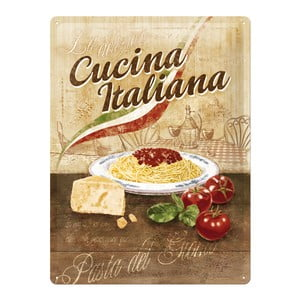 Retro plechová cedule Cucina Italiana, 30x40 cm