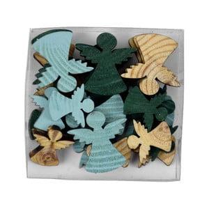 Sada 24 vánočních ozdob ve tvaru andělíčků Ego Dekor Navy