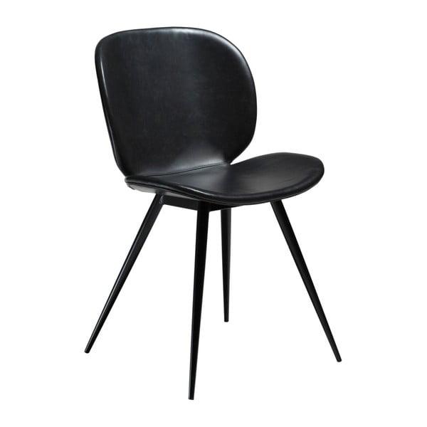 Czarne krzesło ze skóry ekologicznej DAN-FORM Denmark Cloud