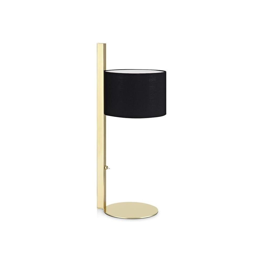 Stolní lampa v černo-zlaté barvě Markslöjd Pullman