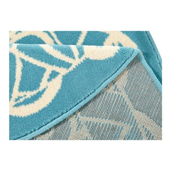 Modrý kulatý koberec Zala Living Capri,ø140cm