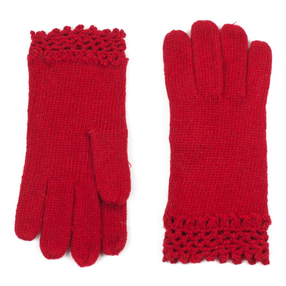 4495bff0eda Červené dámské rukavice Art of Polo Ursula