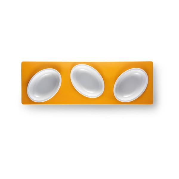 Oranžový servírovací set Entity, délka 30 cm