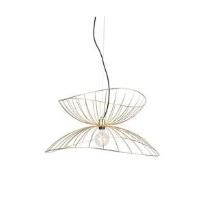 Závěsné svítidlo v barvě mosazi GlobenLighting Ray, ø70cm