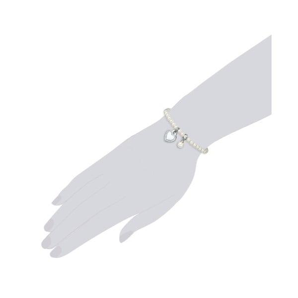 Náramek s bílou perlou ⌀8 mm Perldesse Poa, délka17cm