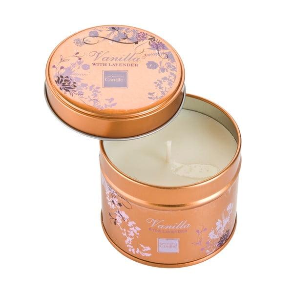 Aroma svíčka v plechovce s vůní levandule a vanilky Copenhagen Candles, doba hoření 32 hodin