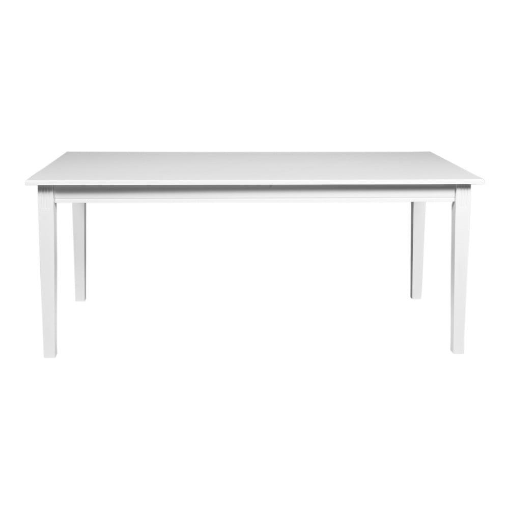 Bílý jídelní stůl z dubového dřeva Folke Wittskar, 180x90cm
