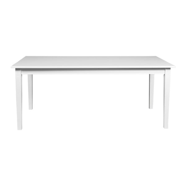 Bílý jídelní stůl z dubového dřeva Rowico Wittskar, 180x90cm