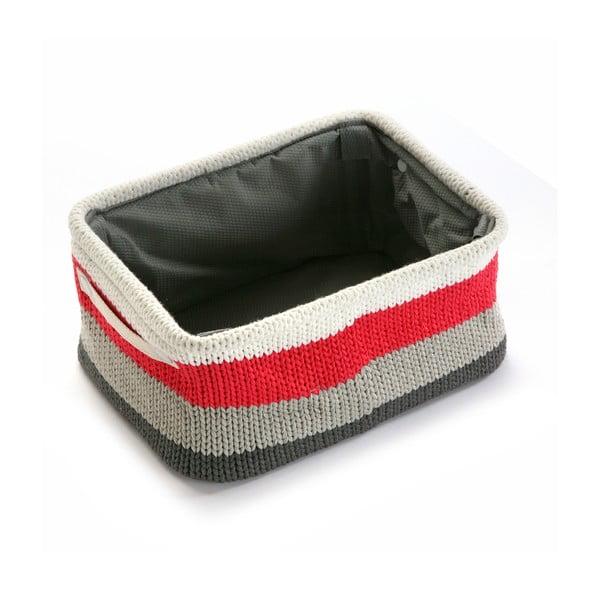 Úložní košík Stripes Knitted, 36x18 cm