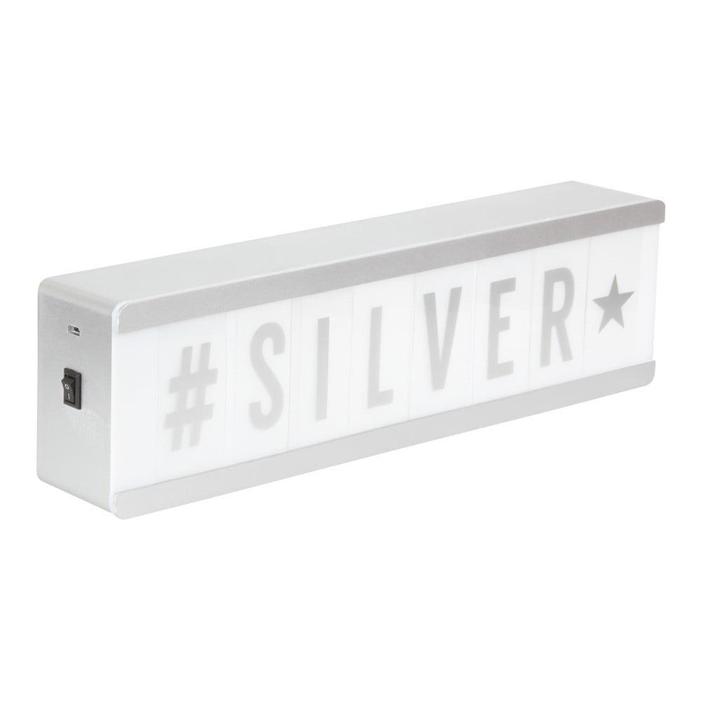 Světelná tabule ve stříbrné barvě s 1 řádkem Opjet Paris Affichage