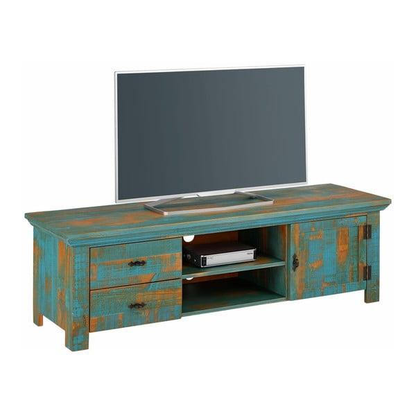Tyrkysový TV stolek z borovicového dřeva Støraa Marilyn