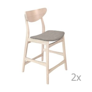 Sada 2 dřevěných barových židlí RGE William