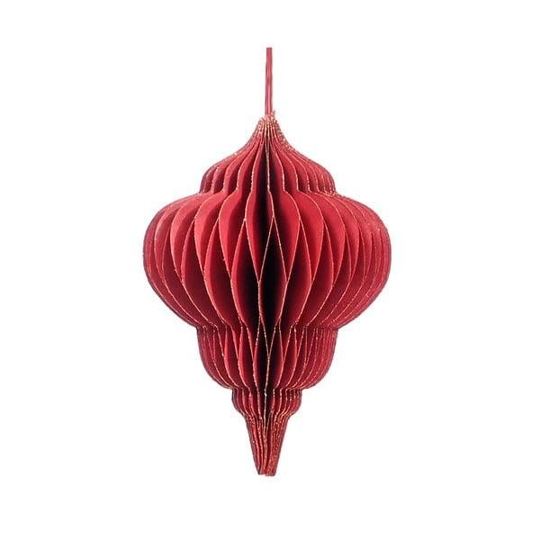 Czerwona papierowa ozdoba świąteczna Only Natural, dł. 10 cm