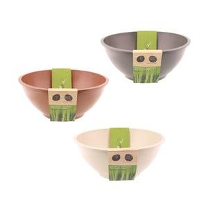 Bambusové misky, set 3 ks, mix barev