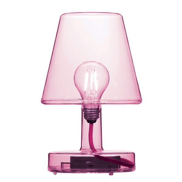 Růžová stolní lampa Fatboy Transloetje