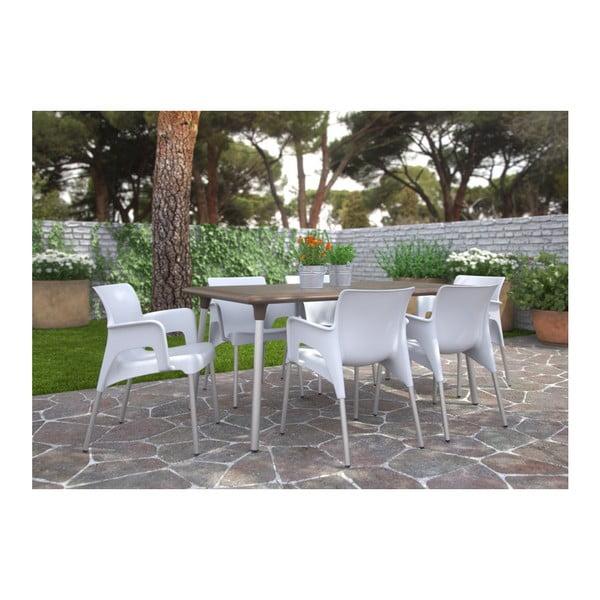 Sada 2 bílých zahradních křesel Resol Sun