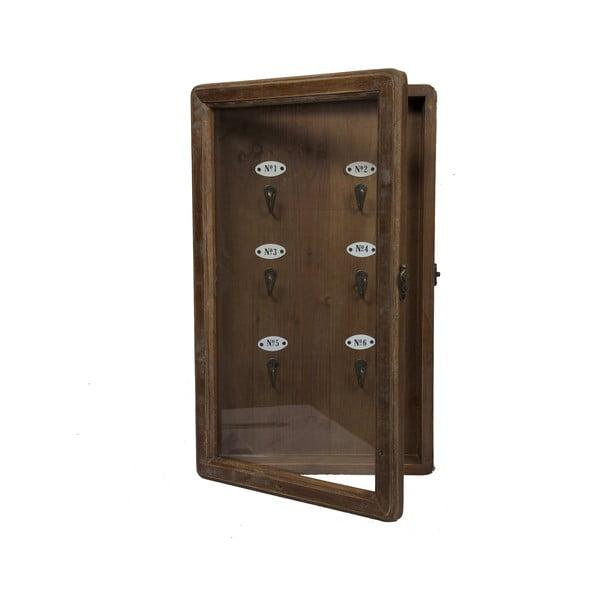 Drevená skrinka na kľúče Numbers