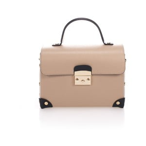 Béžová kožená kabelka Lisa Minardi Kara
