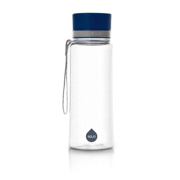 Plastová fľaša s modrým vekom Equa Plain, 600 ml