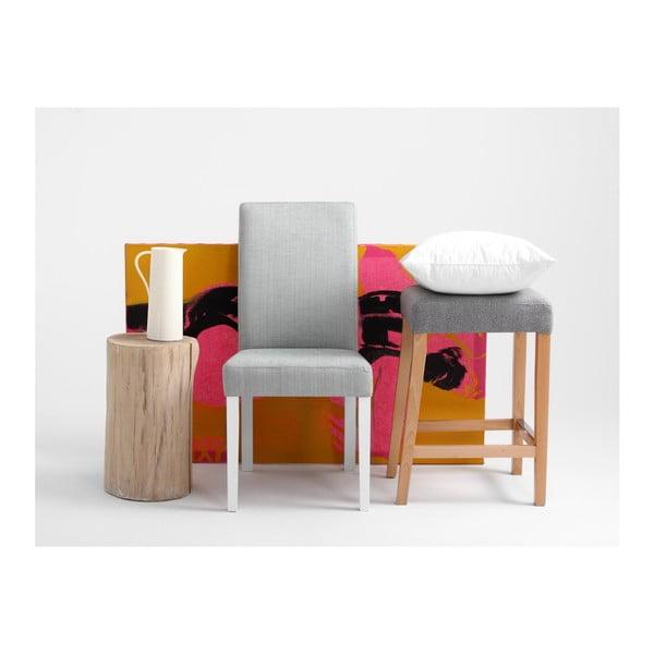 Šedá židle s bílými nohami Custom Form Wilton