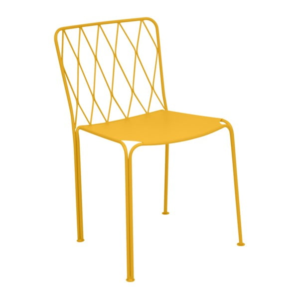 Žlutá zahradní židle Fermob Kintbury