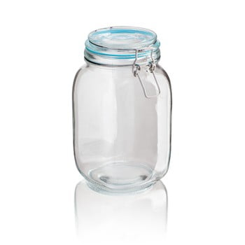 Recipient din sticlă Sabichi Clip, 1,5 l imagine