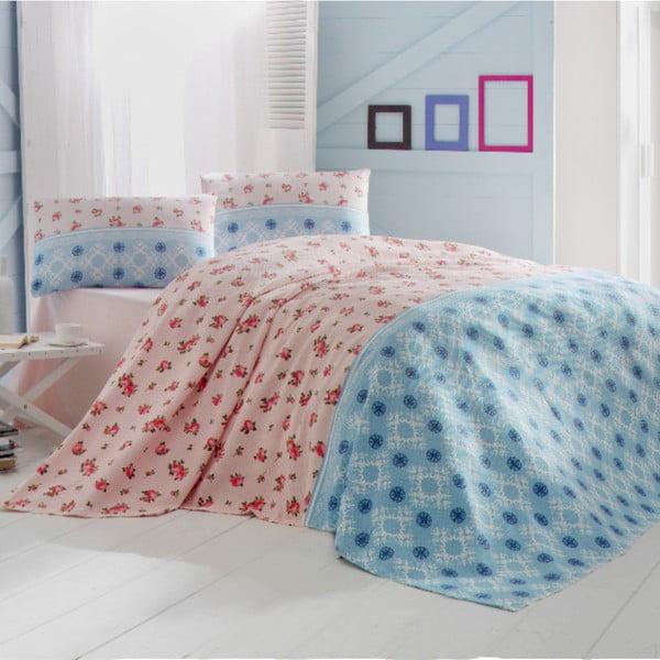 Lehký přehoz přes postel Cemre Blue, 200x235cm