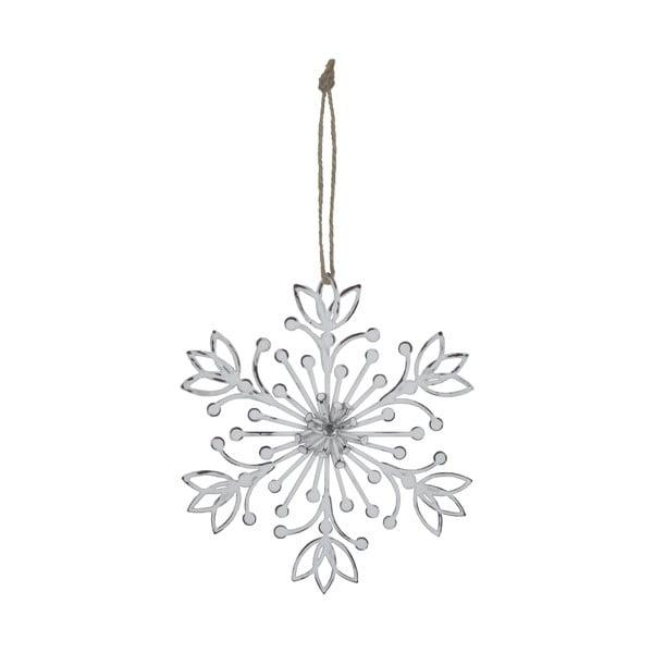 Hópehely formájú fehér függő dekoráció - Ego Dekor