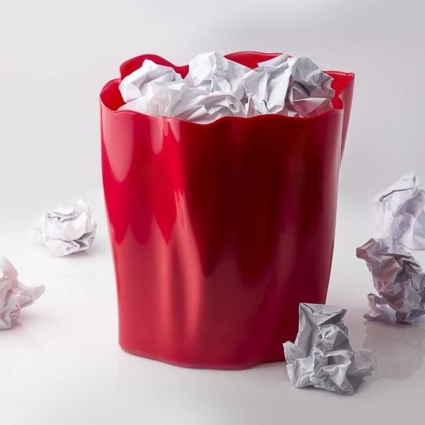 Odpadkový koš QUALY Flow Bin, červený