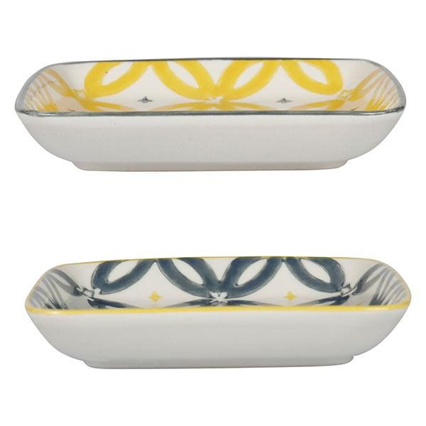 Sada 4 porcelánových talířů Flower, 12.5 cm