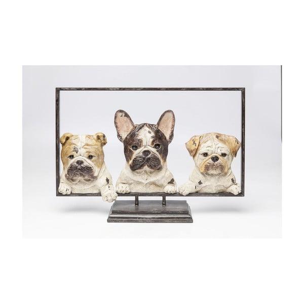 Dekorativní socha Kare Design Dogs In Frame, šířka63cm