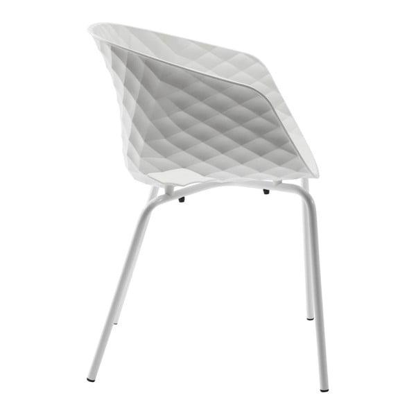 Sada 4 bílých jídelních židlí Kare Design Radar Bubble