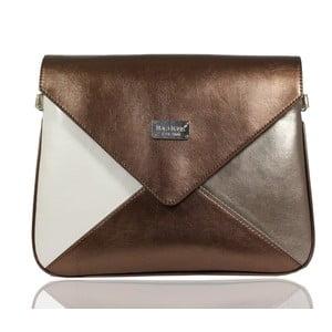 Hnědo-béžová kabelka Dara bags Envelope No.34