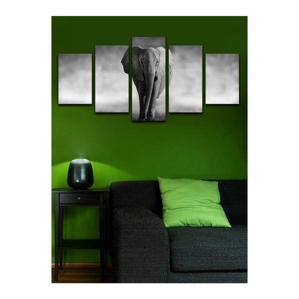 Vícedílný obraz Black&White Elephant