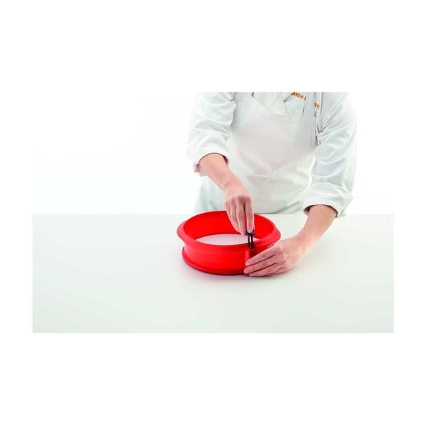 Červená silikonová rozevírací forma na dort Lékué, ⌀ 23 cm
