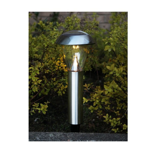 Stříbrné zahradní LED světlo Best Season Minimal