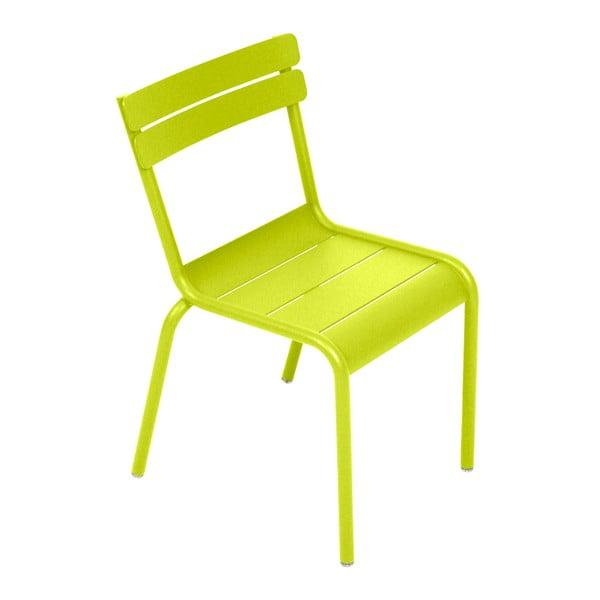 Limetkově zelená dětská židle Fermob Luxembourg