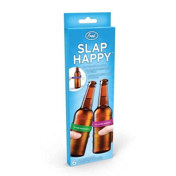 Sada 6 rozlišovačů na lahve Fred & Friends Slap Happy
