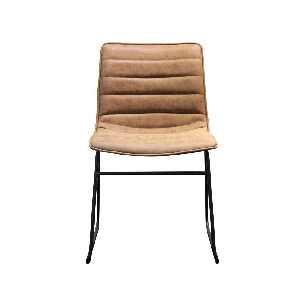 Hnědá židle s černou kovovou konstrukcí Red Cartel Hampton