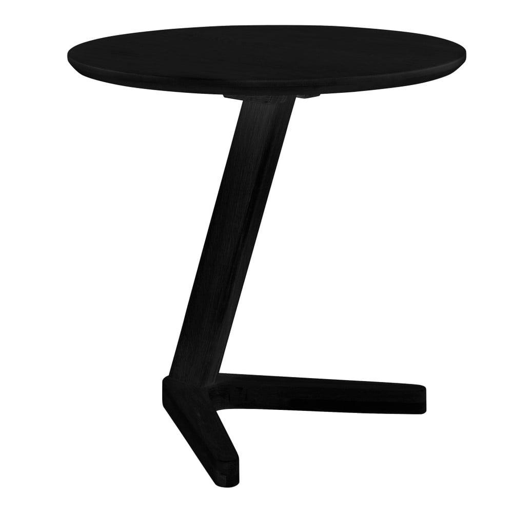 Černý odkládací stolek Canett Augustenborg